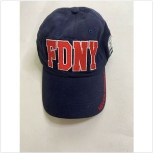FDNY Never Forget 911 New York Hat Navy Red